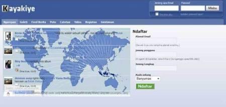 Inilah KayaKiye.com, Jejaring Sosial Mirip 'Facebook' Khusus Warga Banyumasan