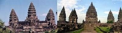 Angkor Wat, Kamboja dengan Candi Prambanan, Yogyakarta
