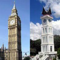 Big ben, Inggris dengan Jam  Gadang Bukittinggi, Sumatera Barat