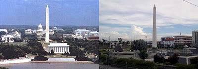 Monumen Washington, Amerika Serikat dengan Tugu Pahlawan Surabaya, Jawa Timur