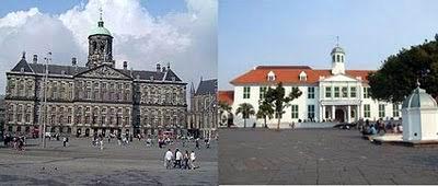 Paleis Amsterdam, Belanda dengan Museum Fatahillah, Jakarta