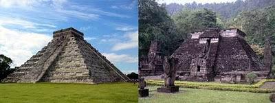 Piramida Maya Chichen Itza, Meksiko dengan Candi Sukuh, Jawa Tengah