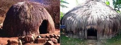 Rumah tradisional Zulu, Afrika Selatan dengan Rumah Honai Papua