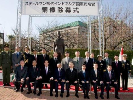 Patung Jenderal Sudirman Berdiri di Kementerian Pertahanan Jepang