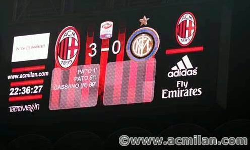 Serie A, Pekan 31 : AC Milan 3-0 Inter