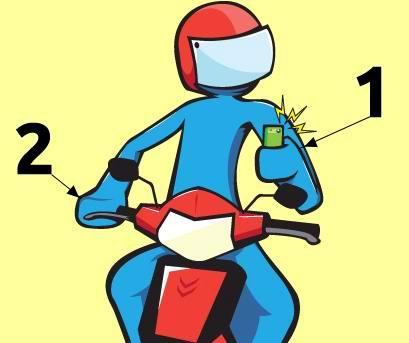 Tips Ampuh Cara Ngetik SMS Sambil Nyetir Motor