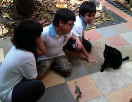 Duo 'Sobat Meong Cilik' dari Jakarta : Yosa dan Eki